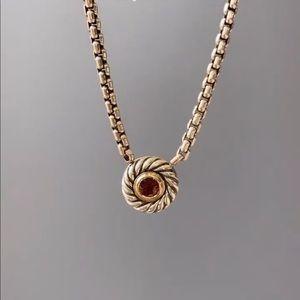 David Yurman Rhodolite Garnet Cookie Necklace